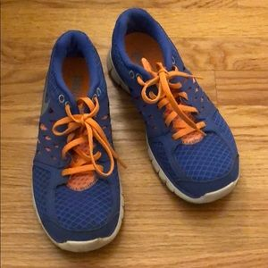 Vibrant purpley blue & orange Nike fitsole sz 6.5